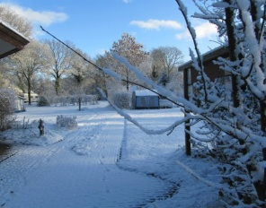 Foto Winter(kamperen) op camping l.